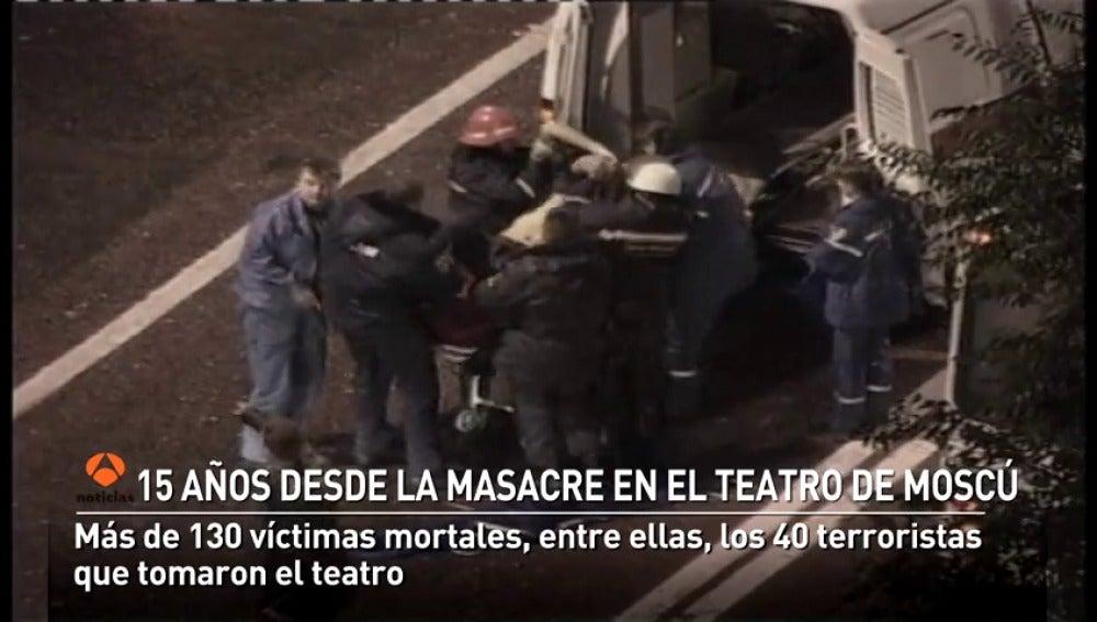 15 años desde la masacre en el teatro de Moscú