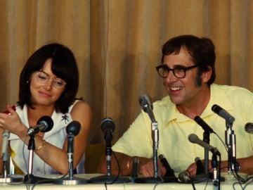 Emma Stone y Steve Carell en 'La batalla de los sexos'