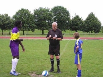 Lukaku, durante un partido en sus inicios
