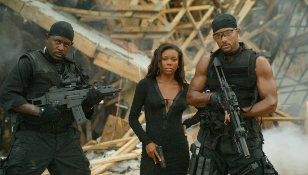 Gabrielle Union junto a Martin Lawrence y Will Smith