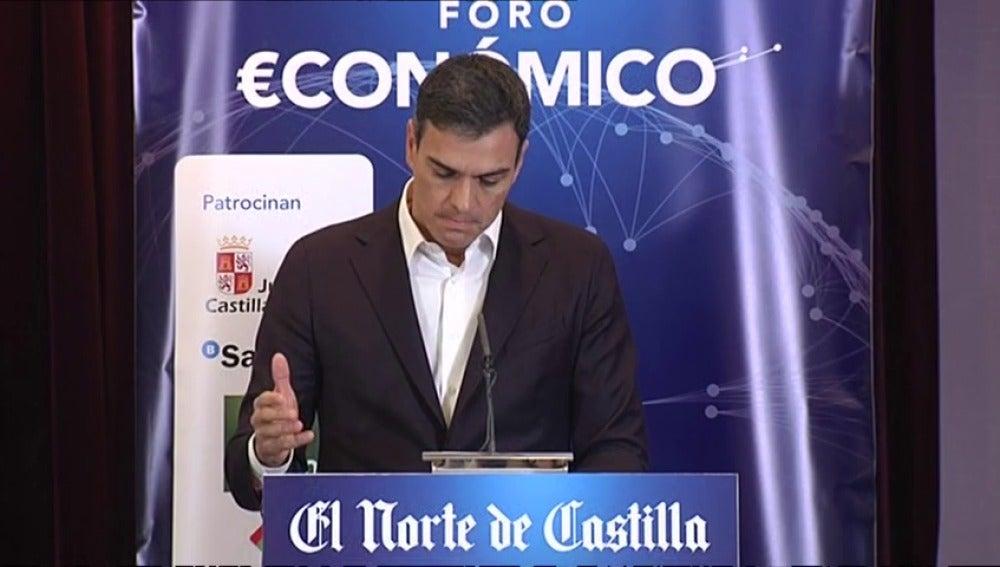 """Pedro Sánchez: """"Hay una mayoría de catalanes para quienes la independencia no es un horizonte factible"""""""
