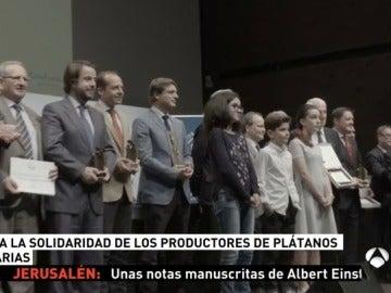 Banco de Alimentos premia a la solidaridad de los productores de Plátanos de Canarias