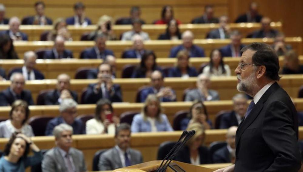 Rajoy, en el Pleno del Senado