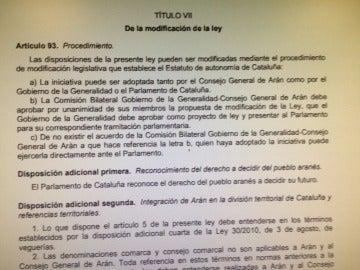 Ley que reconoce el 'derecho a decidir' del Valle de Arán