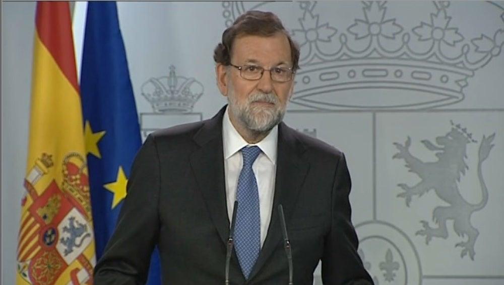 Mariano Rajoy comparece en el Palacio de La Moncloa