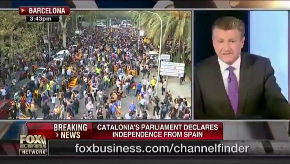 La reacción de la prensa internacional a lo ocurrido en Cataluña