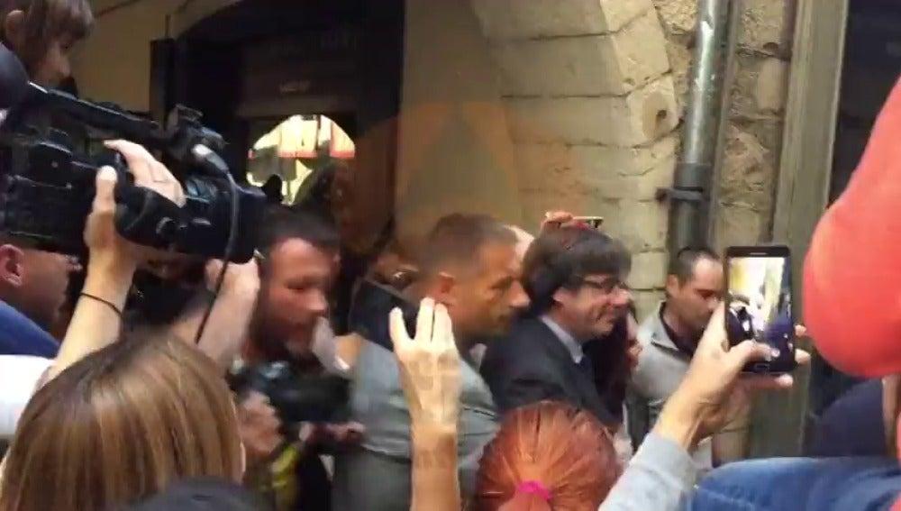 Puigdemont pasea por Girona