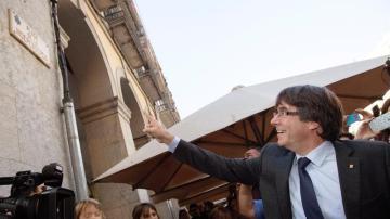 Carles Puigdemont, en Girona