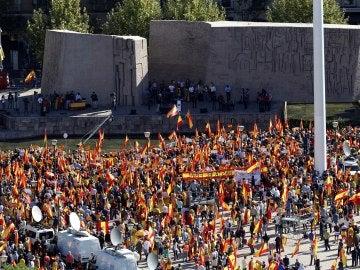 Manifestación por la unidad de España en Colón