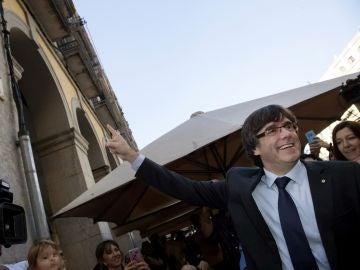 El president cesado de la Generalitat de Cataluña, Carles Puigdemont