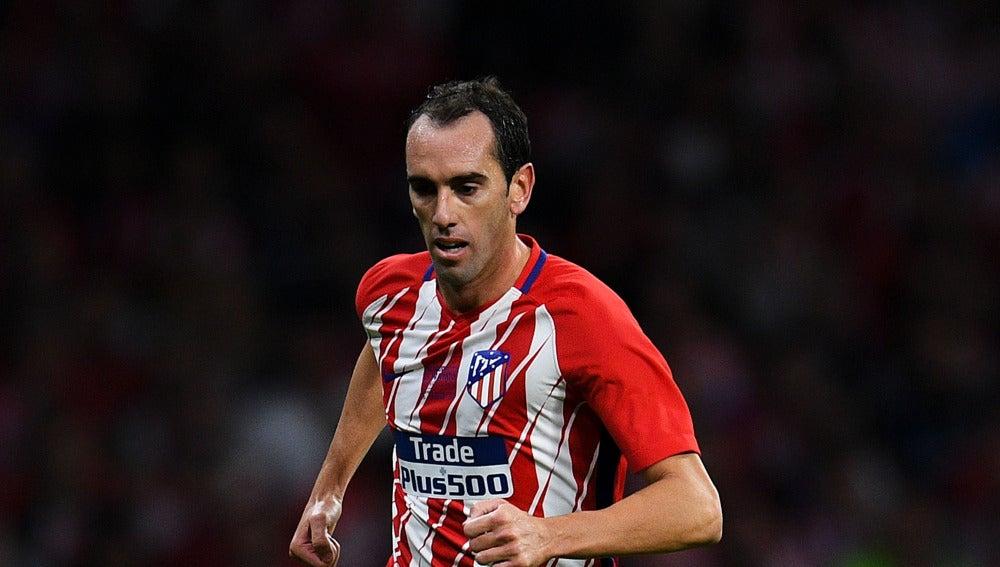 Godín, durante un partido con el Atlético de Madrid