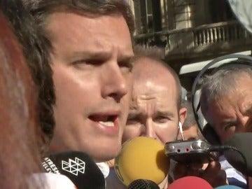 """Rivera: """"Puigdemont debe aceptar la realidad democrática y respetar a todos los catalanes"""""""