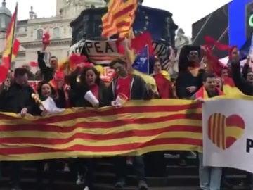 Manifestación contra la independencia de Cataluña en Barcelona