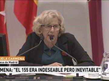 """Manuela Carmena asegura que la aplicación del artículo 155 era """"inevitable e indeseable"""""""