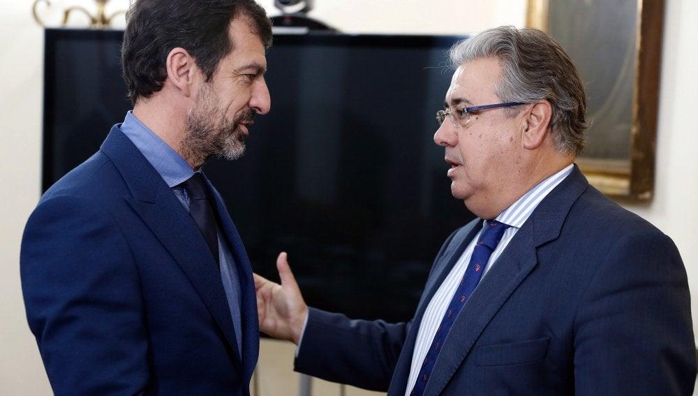 Zoido se reúne en Madrid con el nuevo jefe de los Mossos