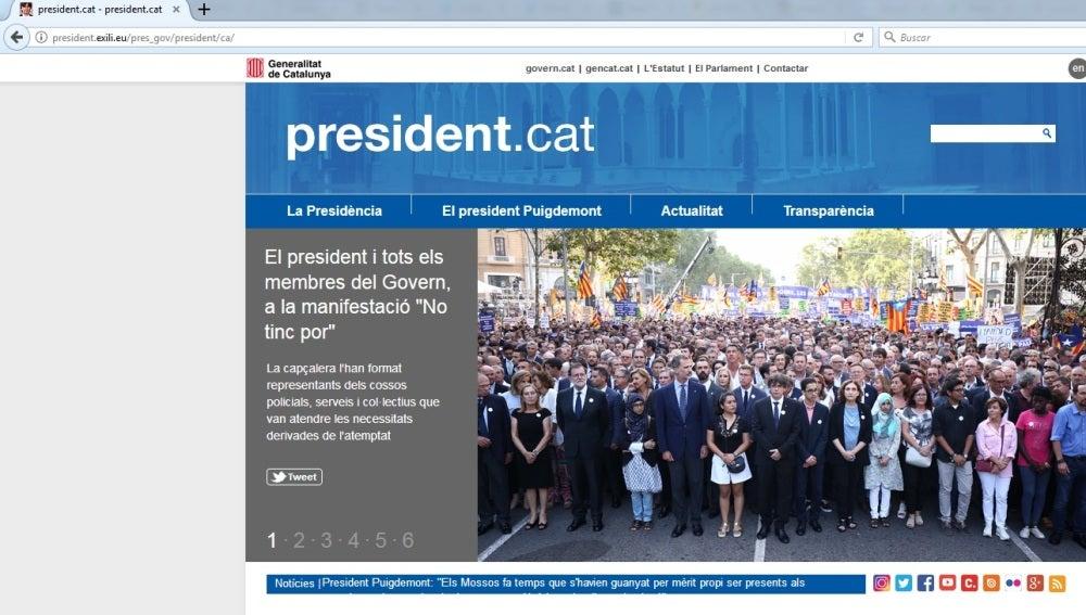La nueva web de Puigdemont