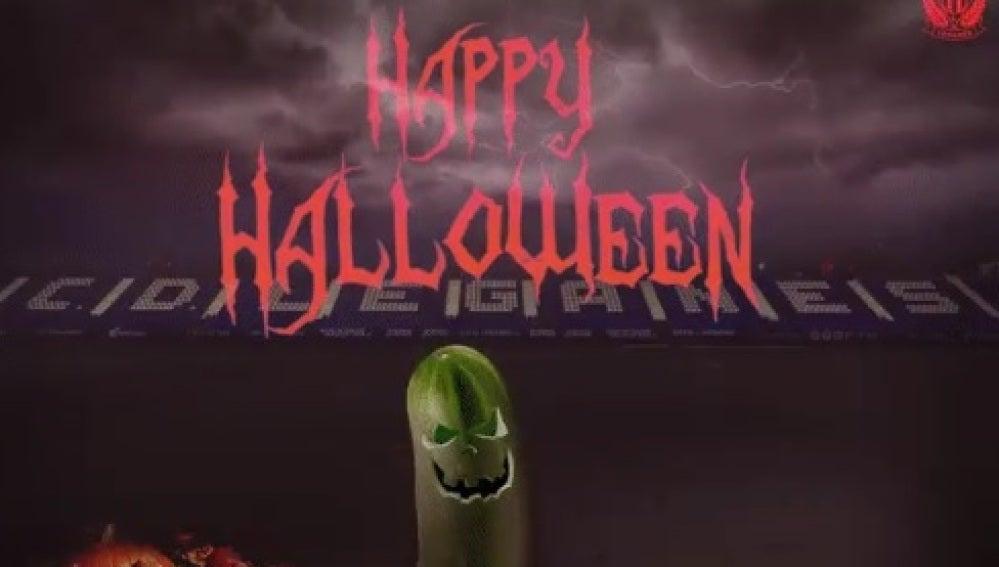 Felicitación de Halloween por parte del Leganés
