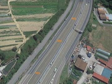 Carretera donde han hallado a la mujer maniatada