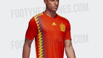 Camiseta España Rusia 2018