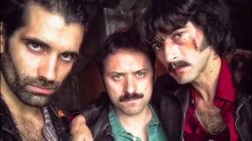 Los actores de 'Fariña' celebran el Halloween más terrorífico en busca de Javier Rey