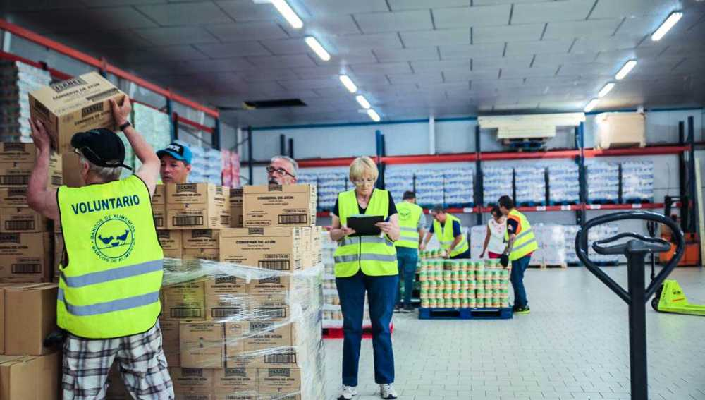 Voluntarios del Banco de Alimentos