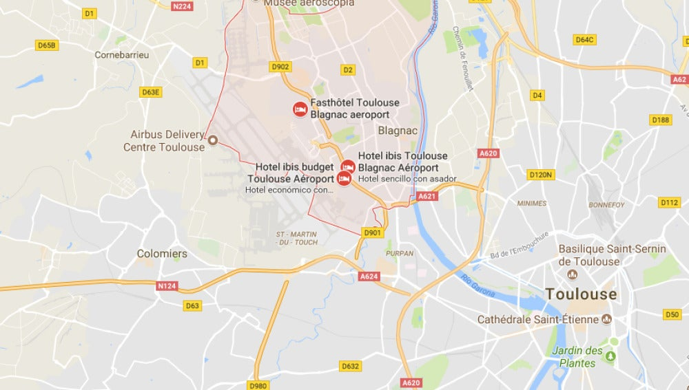 Atropello en Blagnac, cerca de Toulouse
