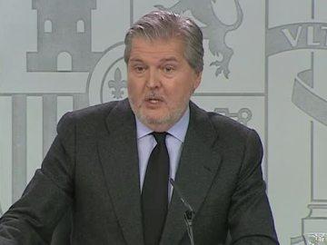 Íñigo Méndez de Vigo, en la rueda de prensa tras el Consejo de Ministros