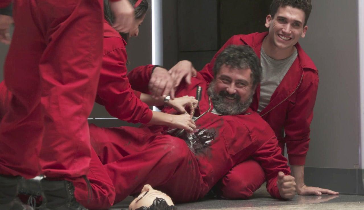 Los protagonistas de 'La casa de papel' viven un rodaje trágico entre risas