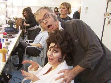 Arnau Vilà se cuela en la sala de maquillaje y caracterización de la séptima gala de 'Tu cara me suena'