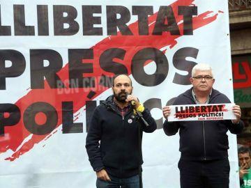 Los vicepresidenteS de la ANC, Agustí Alcoberro, y de Òmnium, Marcel Mauri