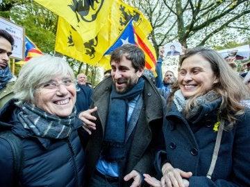 Manifestación proindependentista en Bruselas