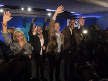 El presidente del Gobierno y del Partido Popular, Mariano Rajoy, en Cataluña