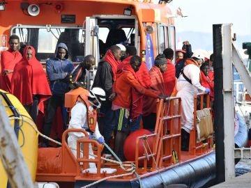 Inmigrantes rescatados en costas de Andalucía este sábado