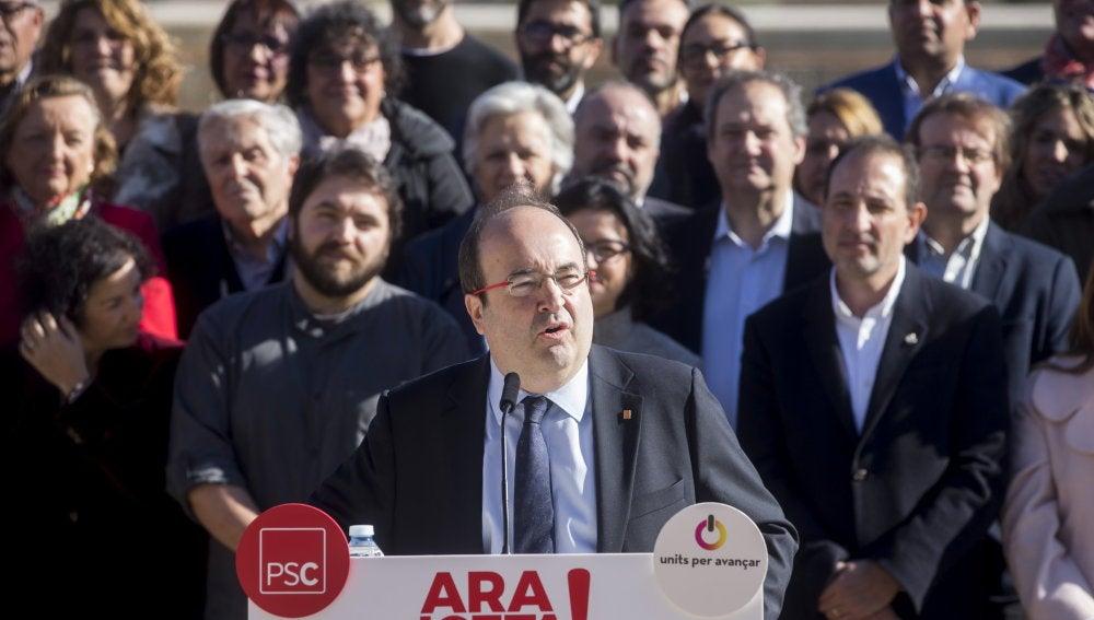 El primer secretario del PSC y candidato a la presidencia de la Generalitat de Cataluña, Miquel Iceta