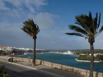 Alerta en Menorca por fuertes vientos