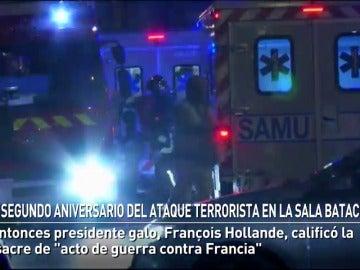 Segundo aniversario del ataque terrorista en la sala Bataclán
