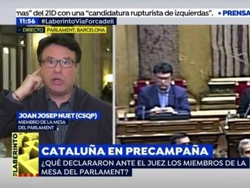 Joan Josep Nuet, secretario de la Mesa del Parlament