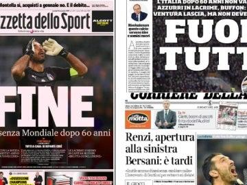 La eliminación de Italia, en la prensa