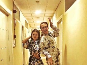 Joaquín Reyes y Adriana Torrebejano se convierten en las hermanas Olsen en 'Cuerpo de Élite'