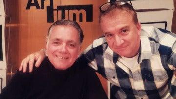 El humorista Óscar Terol con Juan Ramón Lucas