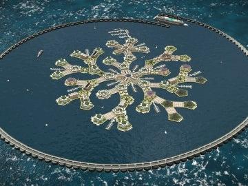 Proyecto de la isla flotante en la Polinesia Francesa