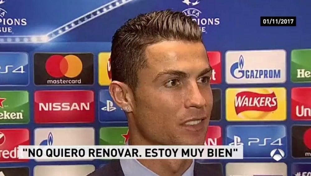 Cristiano Ronaldo se quiere ir del Real Madrid en junio