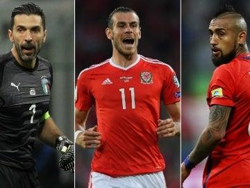 Buffon, Bale y Arturo Vidal no estarán en el Mundial