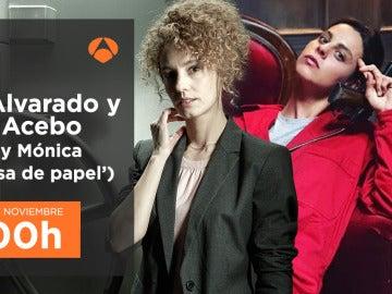 Esther Acebo y Clara Alvarado, Mónica y Ariadna en 'La casa de papel', charlarán en directo en Facebook Live