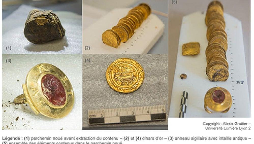 Descubren un tesoro medieval con objetos y monedas de oro en la Abadía de Cluny (Francia)