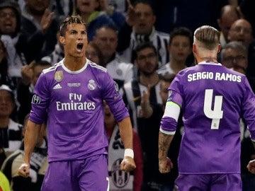 Cristiano Ronaldo celebra un gol en la final de Cardiff ante la Juventus