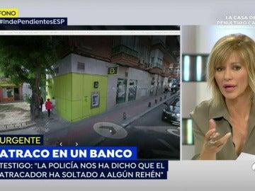 Finaliza el atraco con rehenes en el barrio madrileño de Usera tras la entrega del atacante