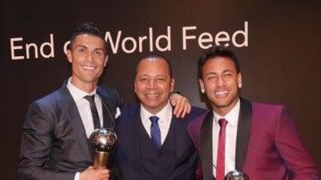 Cristiano y Neymar en gala 'The Best'