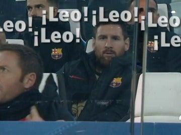 Messi, la gran atracción en el banquillo de Turín