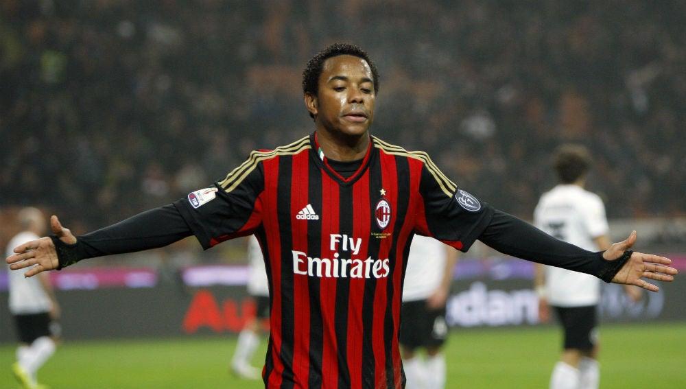 Robinho, en su etapa como jugador del AC Milan